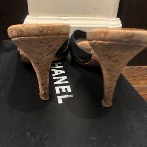 CHANEL Shoes - Chanel black sandals size 37